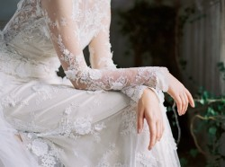 Wedding dress with long sleeves from Claire Pettibone for 2016