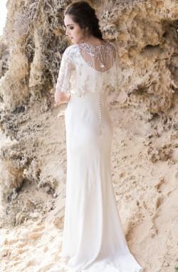 Stunning bridal cape