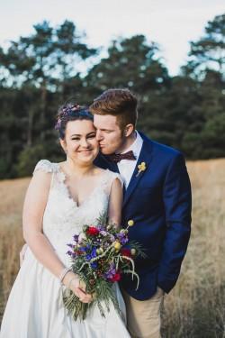 Lovely bride & groom portrait