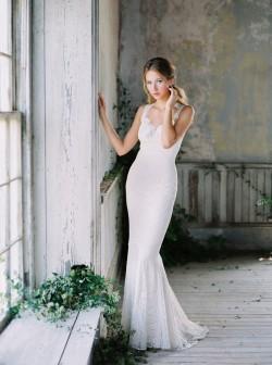 Wyoming - Trumpet Wedding Dress from Claire Pettibone
