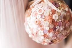 Vintage Button Pomander Bouquet