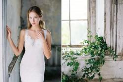 Wyoming ~ Plunging neckline wedding dress from Claire Pettibone