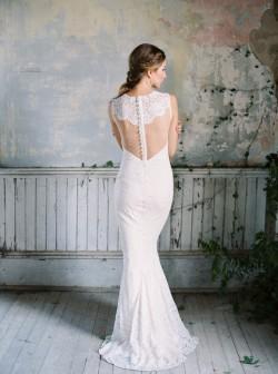 Wyoming - Beautiful backed wedding dress from Claire Pettibone