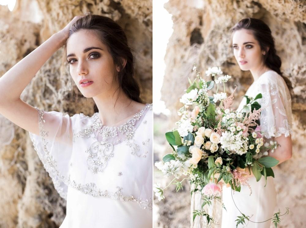 Glamorous bridal cape