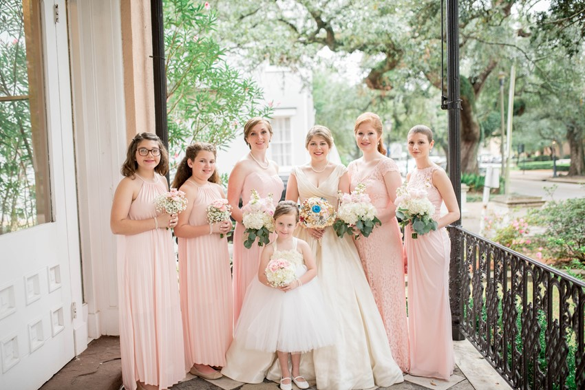 Bridesmaids and Flower Girls in Rose Quartz