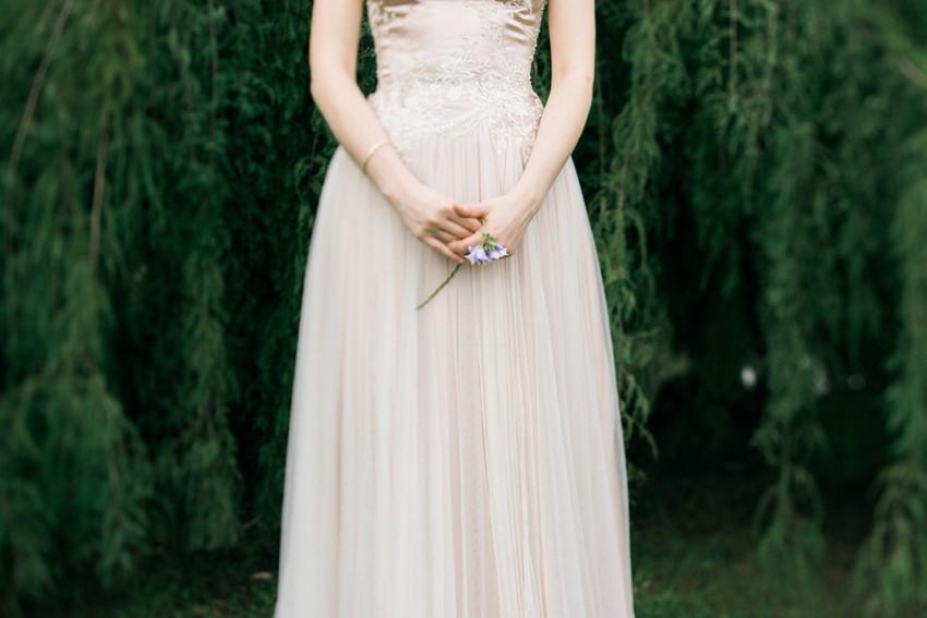 Beautiful Pale Pink Wedding Dress