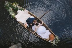 Romantic Rowboat Wedding Exit