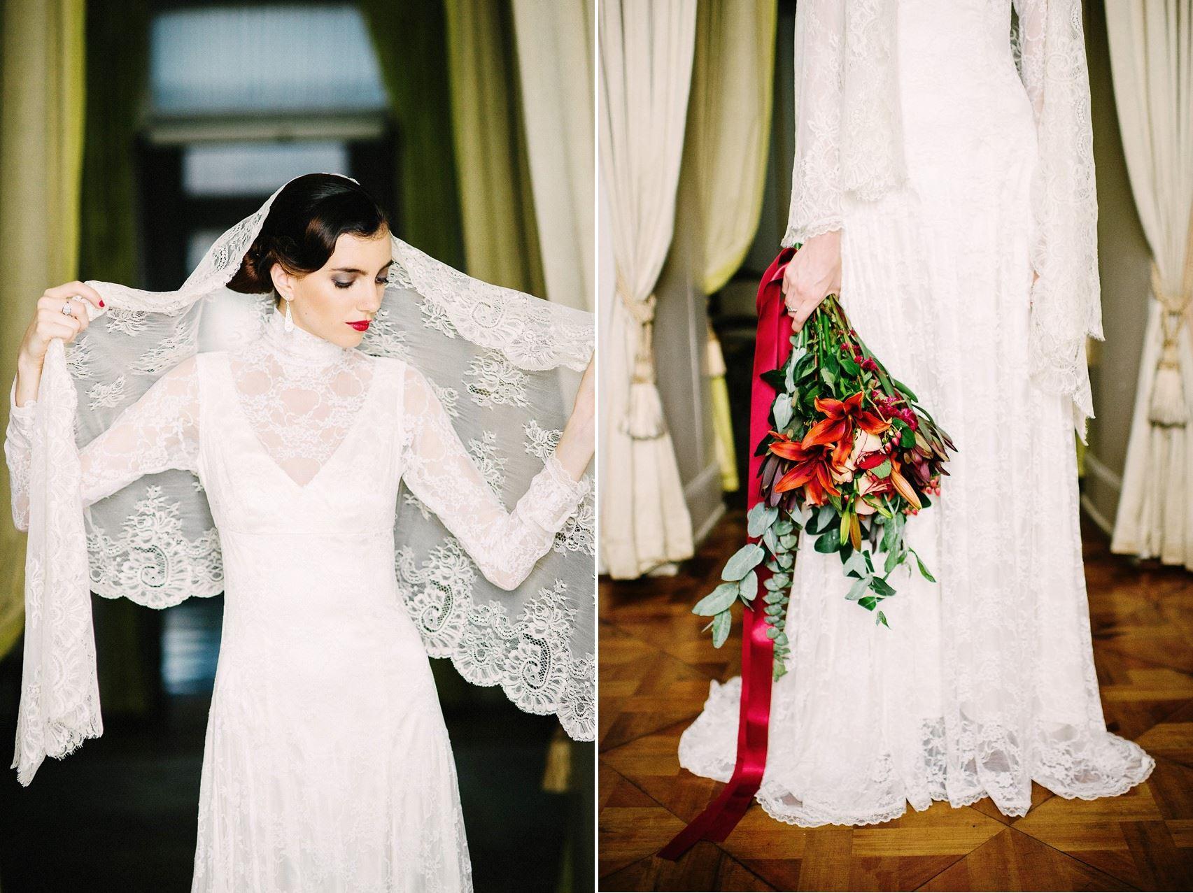 Long Sleeve Lace Wedding Dress - Wedding Inspiration with Latin American Elegance