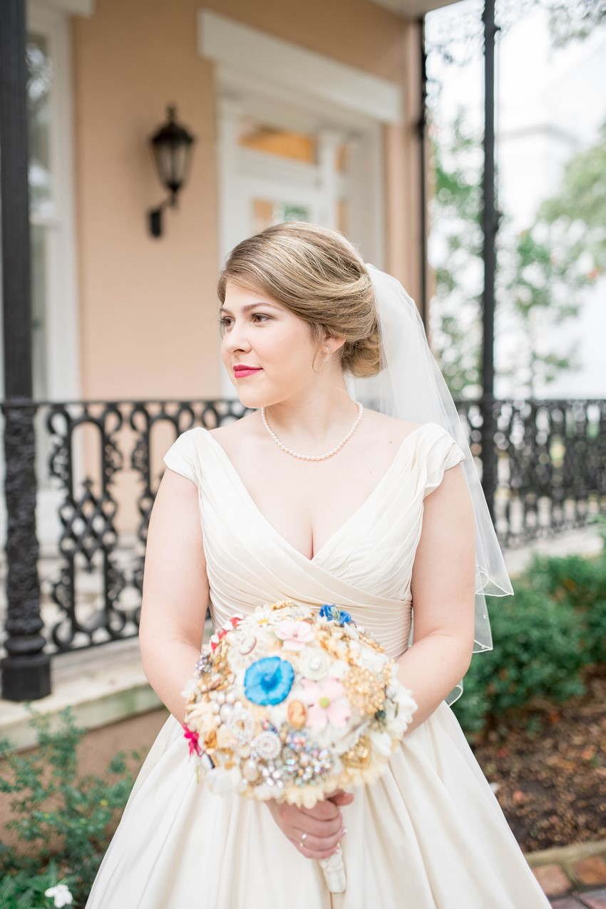 1950s Inspired Bride & Brooch Bouquet