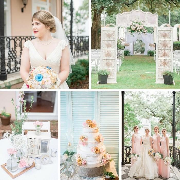 A Pretty Pastel Wedding Full of Love