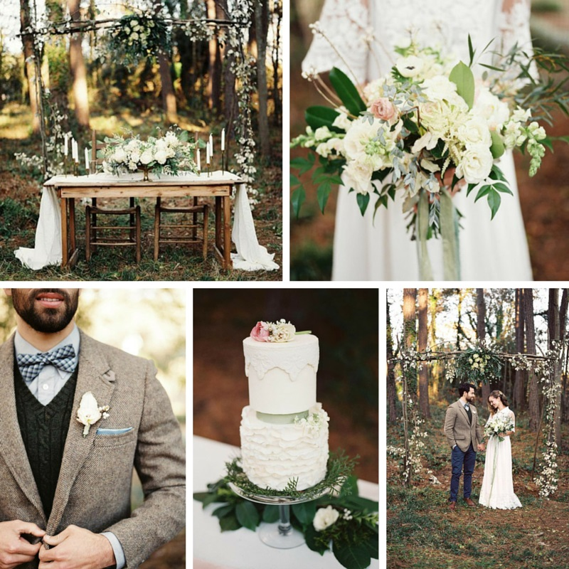 Elegant Woodland Wedding Inspiration from Noi Tran Photography