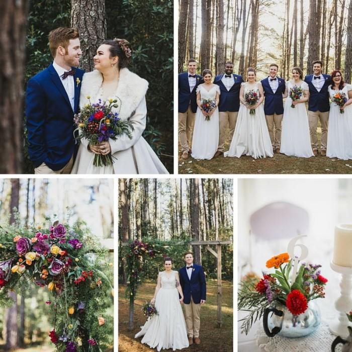 A Bright & Beautiful Woodland Vintage Wedding