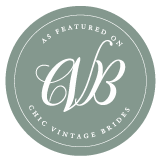 As Featured on Chic Vintage Brides