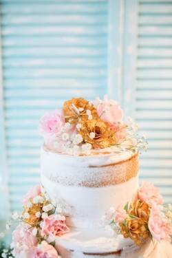 Pretty Naked Wedding Cake