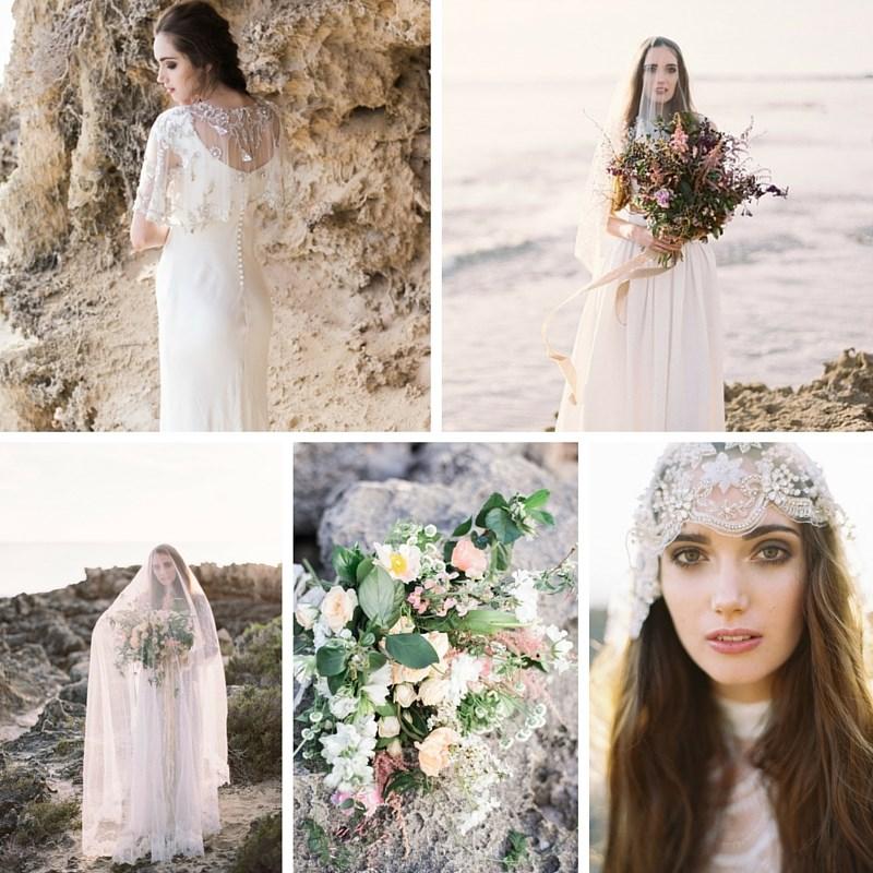 Serenely Beautiful Beach Bridal Shoot