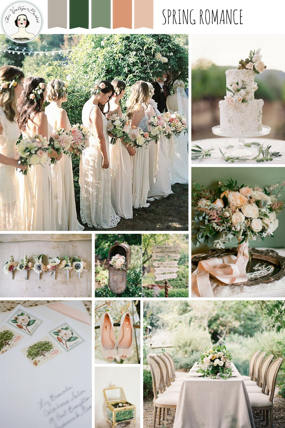 Spring Romance – Garden Wedding Inspiration in Pretty Pastel Shades of Peach, Blush & Green