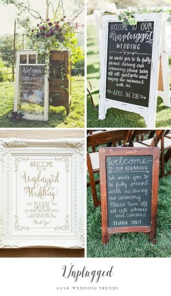 Wedding Trend - Unplugged
