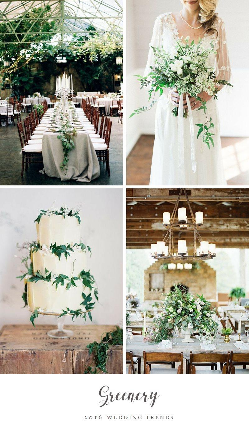 Top Wedding Trends - Greenery