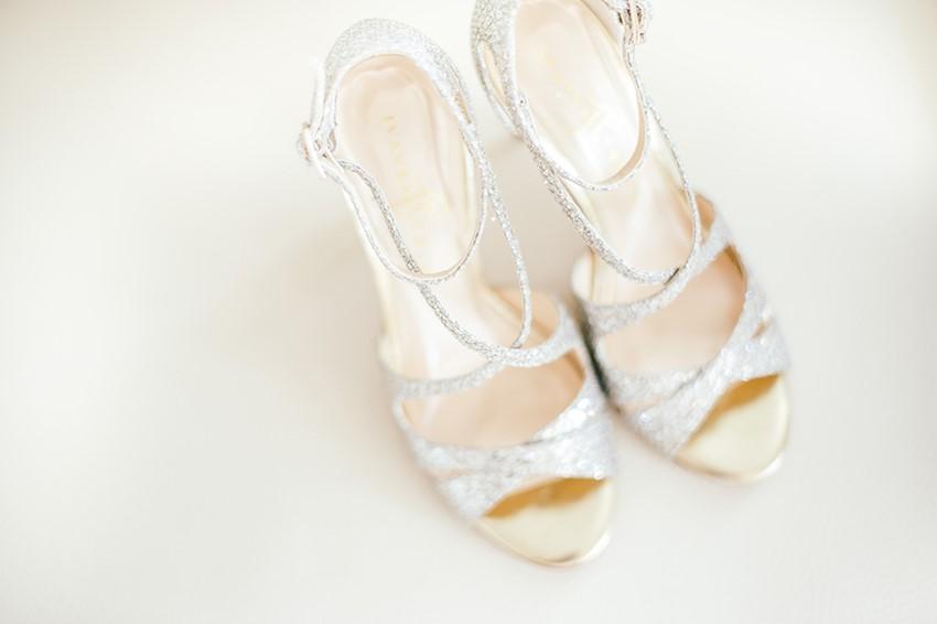 Glamorous Silver Bridal Shoes