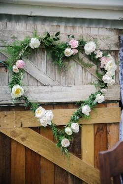 Floral Heart Aisle Decor