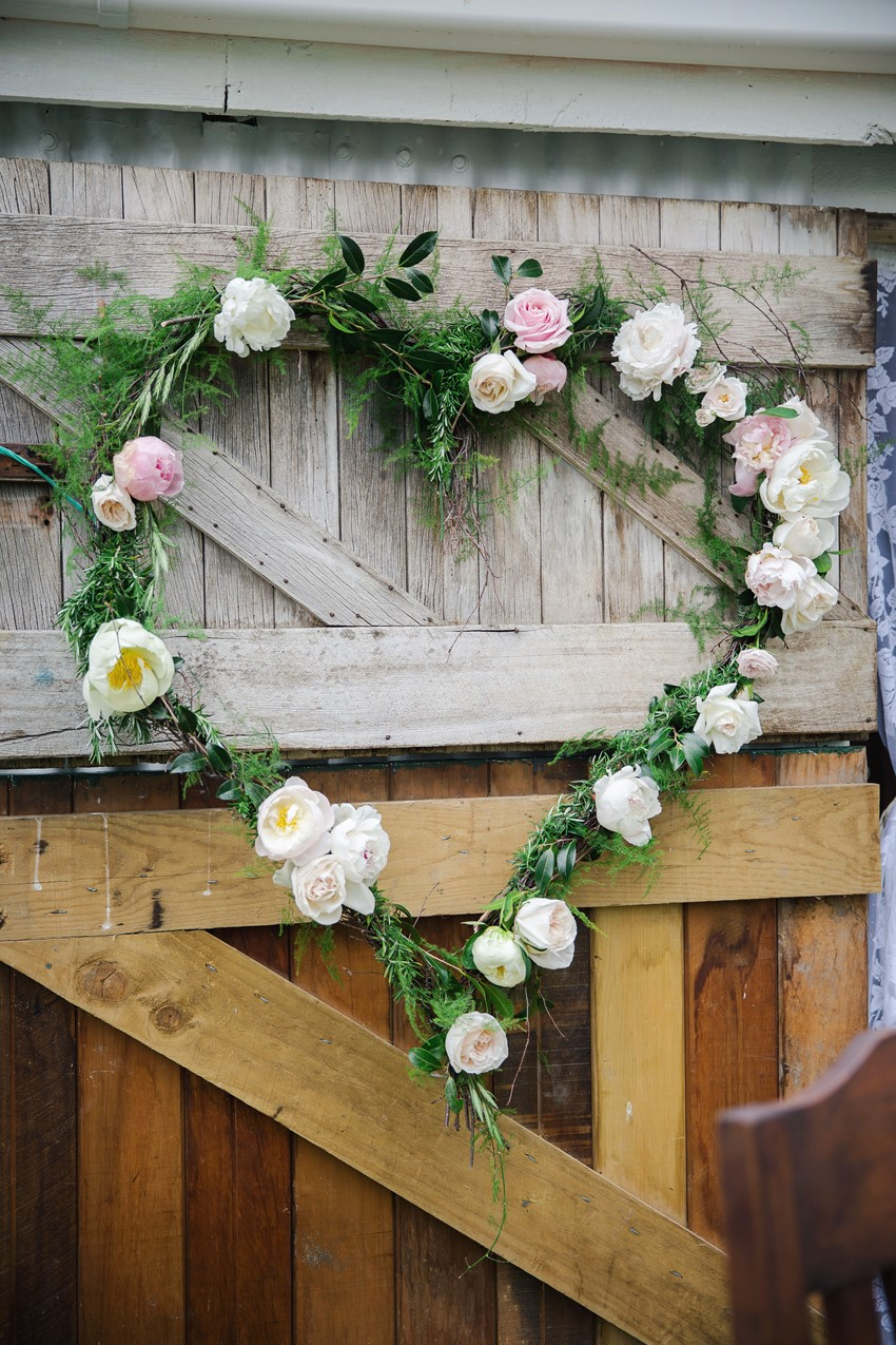Floral Heart Aisle Decor
