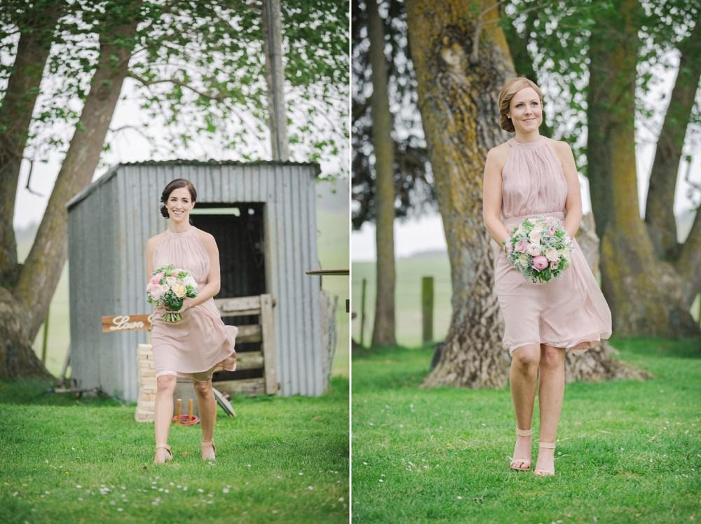 Bridesmaids in Rose Quartz