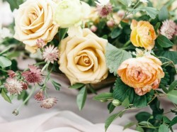 Vintage Rose Floral Wedding Centrepiece