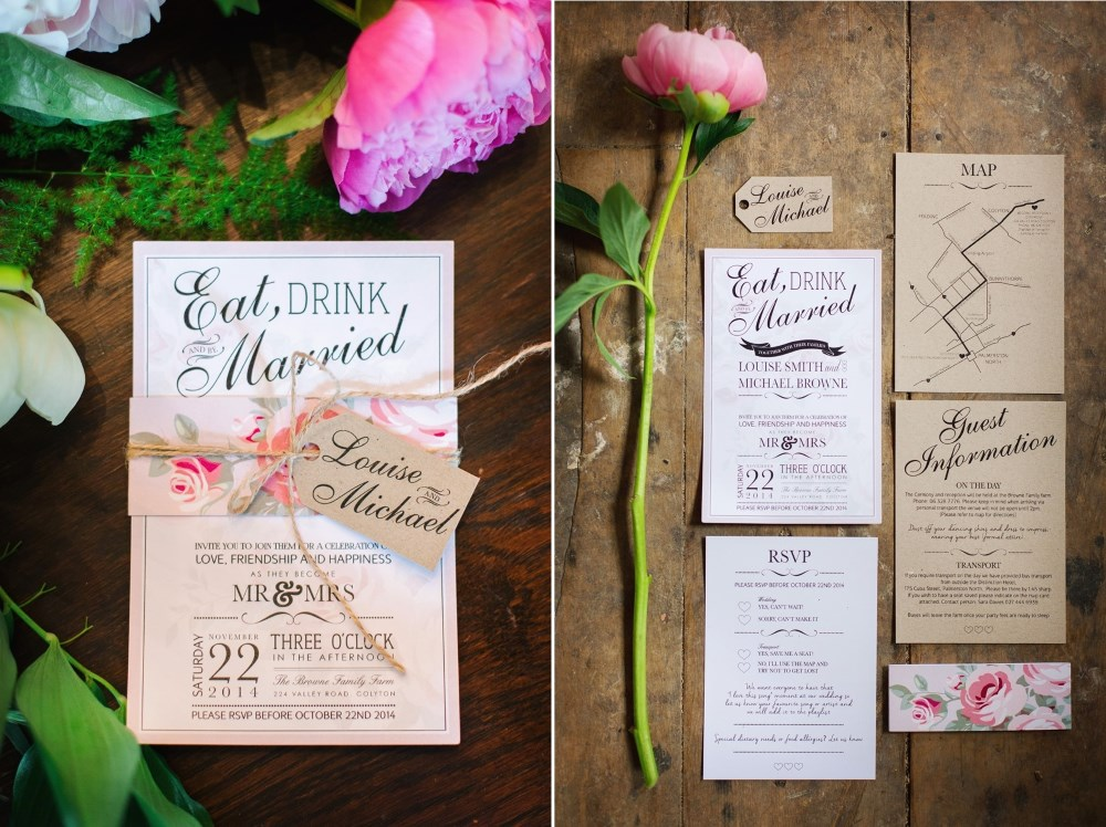 Pretty Floral Wedding Invitations