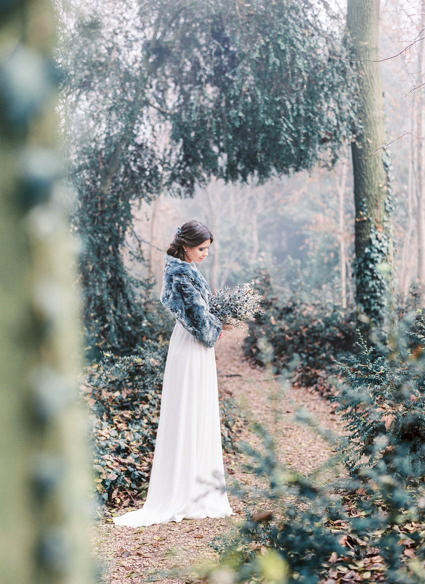 Beautiful Winter Bridal Look
