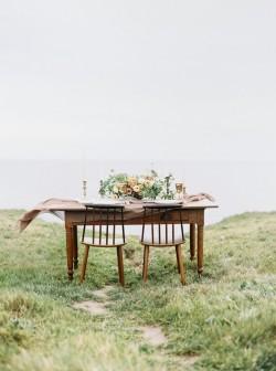 Modern Vintage Coastal Sweetheart Table