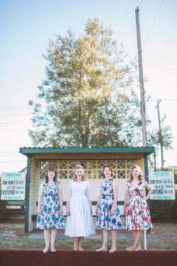 1950s Bride & Bridesmaids