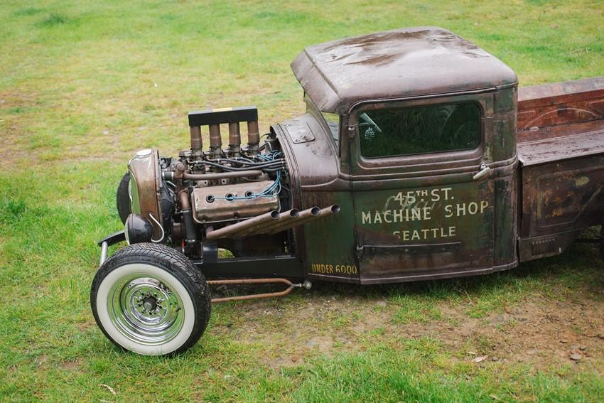 Rustic Vintage Wedding Car
