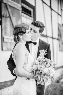 Vintage Inspired Wedding Portrait