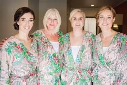 Bride, Bridesmaids and Mum in Bath Robes
