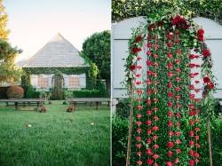 Romantic Valentines Day Wedding Aisle Arch