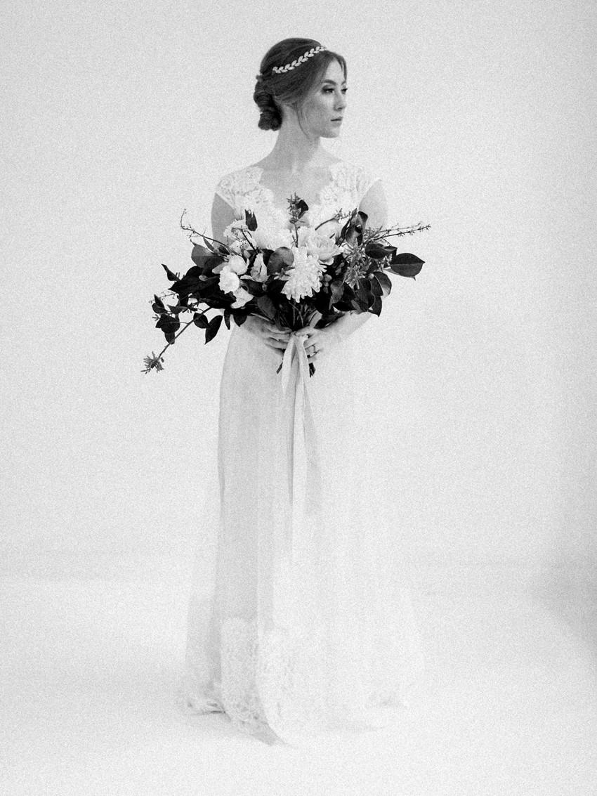 Beautiful Black & White Bridal Portrait