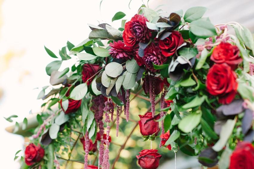Romantic Rose Aisle Arch