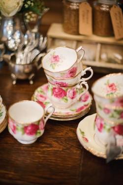 Vintage Wedding High Tea