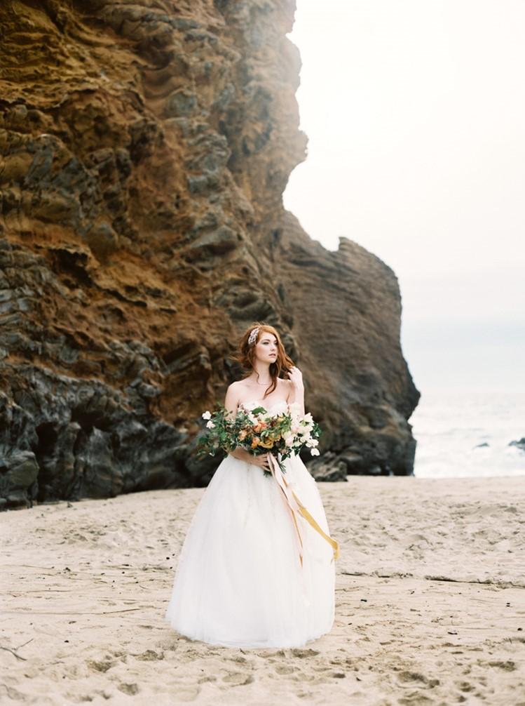 Modern Vintage Beach Bride