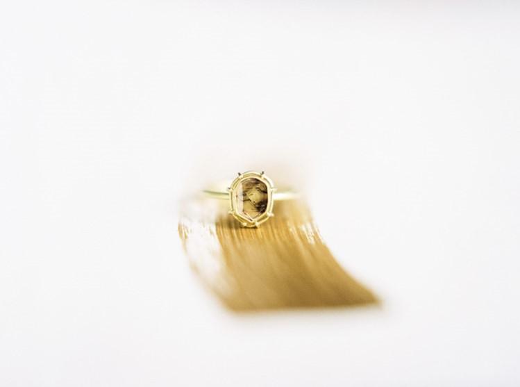 Stunning Yellow Diamond Engagement Ring
