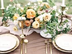 Romantic Modern Vintage Wedding Tablescape