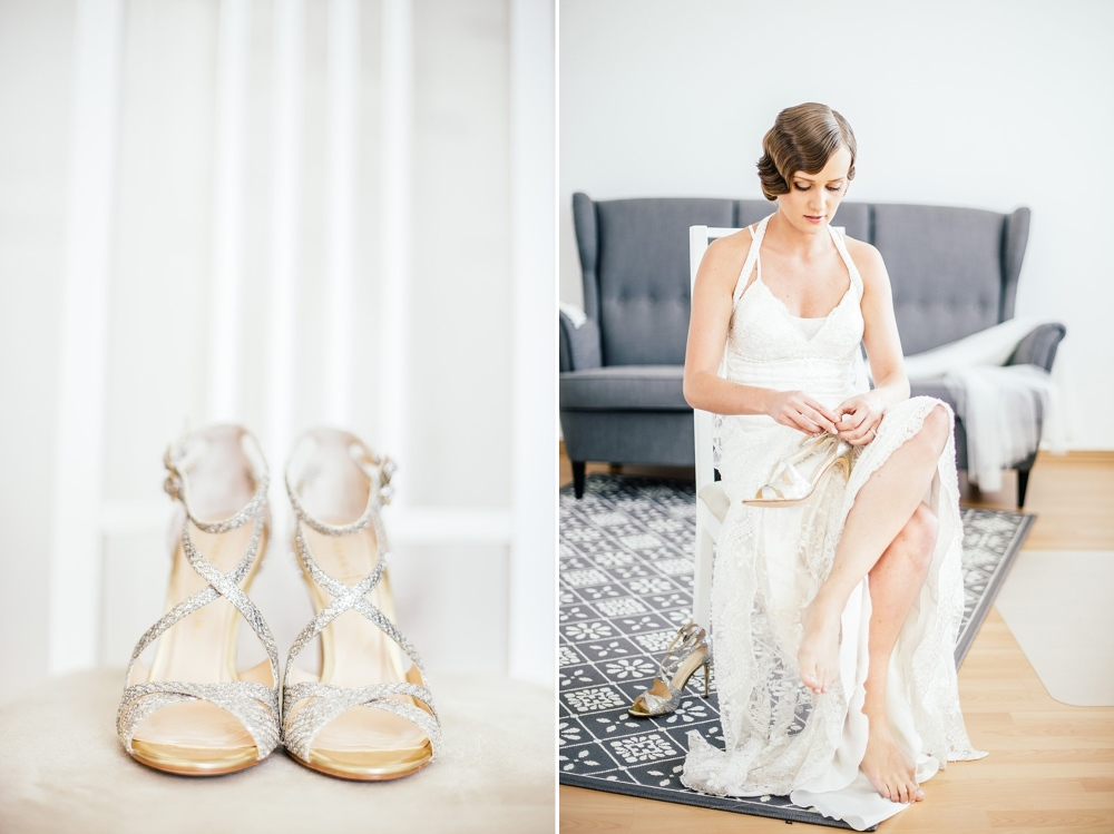 Elegant Silver Bridal Sandals