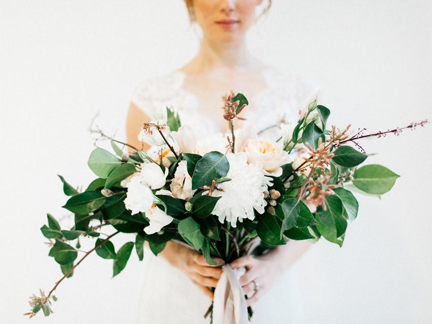 Vintage Just Picked Bridal Bouquet
