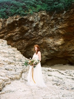 Romantic Modern Vintage Beach Bride