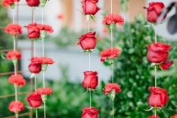 DIY Roses Wedding Backdrop