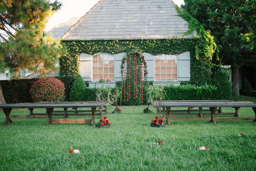 Romantic Valentines Day Wedding Backdrop