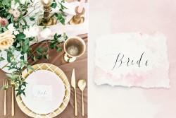Modern Vintage Wedding Table Setting