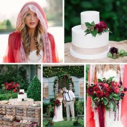 """An Enchanting """"Little Red Riding Hood"""" Wedding Inspiration Shoot"""