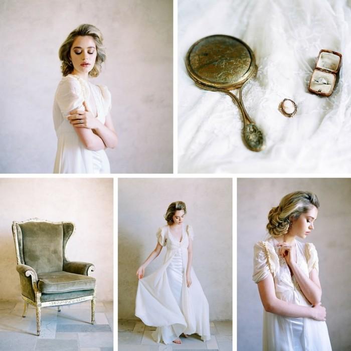 Ethereal Vintage Bridal Shoot in Elegant Neutrals