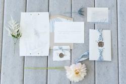 Coastal Wedding Stationery // Photography by Caroline & Evan Photography